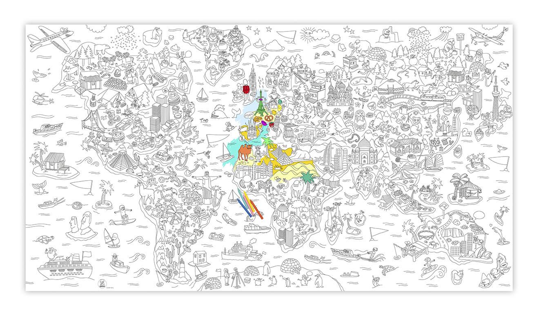 Reuze kleurposter atlas gouts et couleurs - Poster coloriage ...