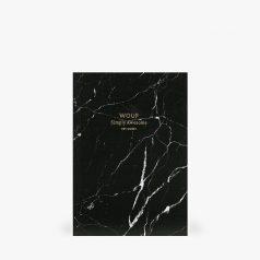 zwart marmer notitieboekje